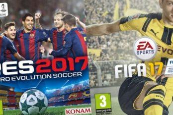 PES 2017 ou FIFA 17